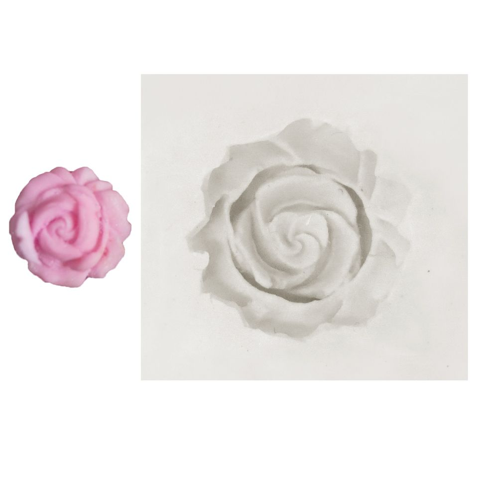 Molde de Silicone Flor Rosa 16 - Gummies