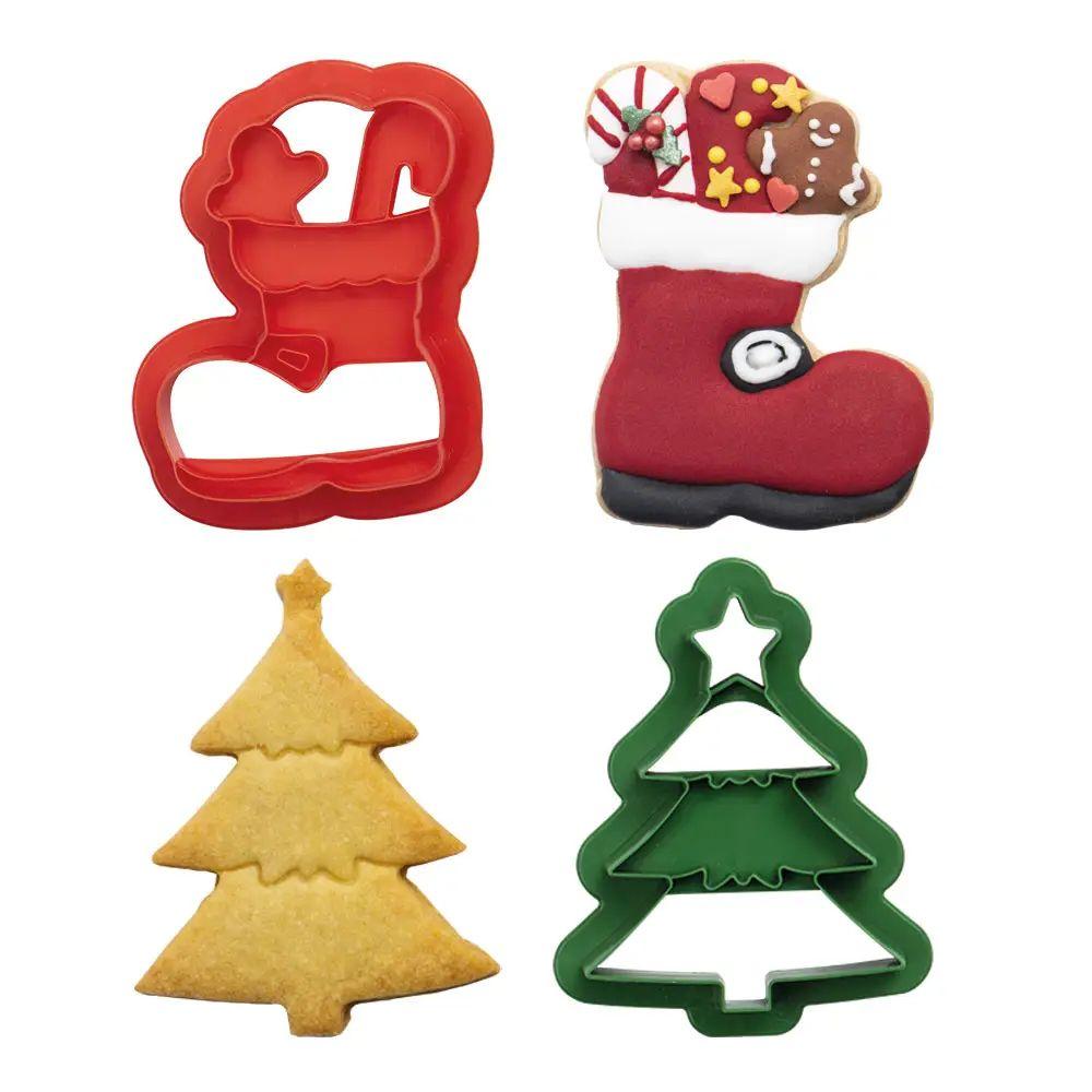 Kit Cortadores Árvore de Natal e Bota de Papai Noel (2pcs) - Decora