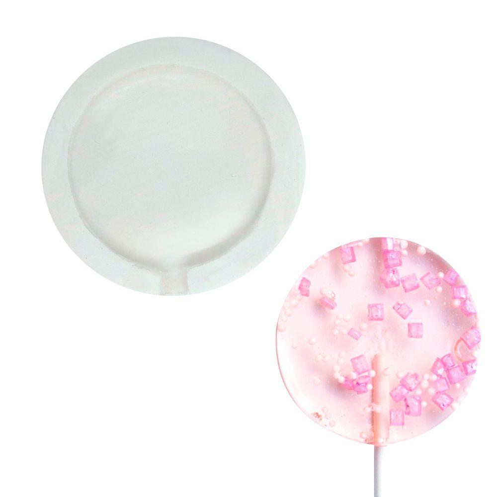 Molde de Silicone Pirulito Pequeno (5,3cm) - Gummies