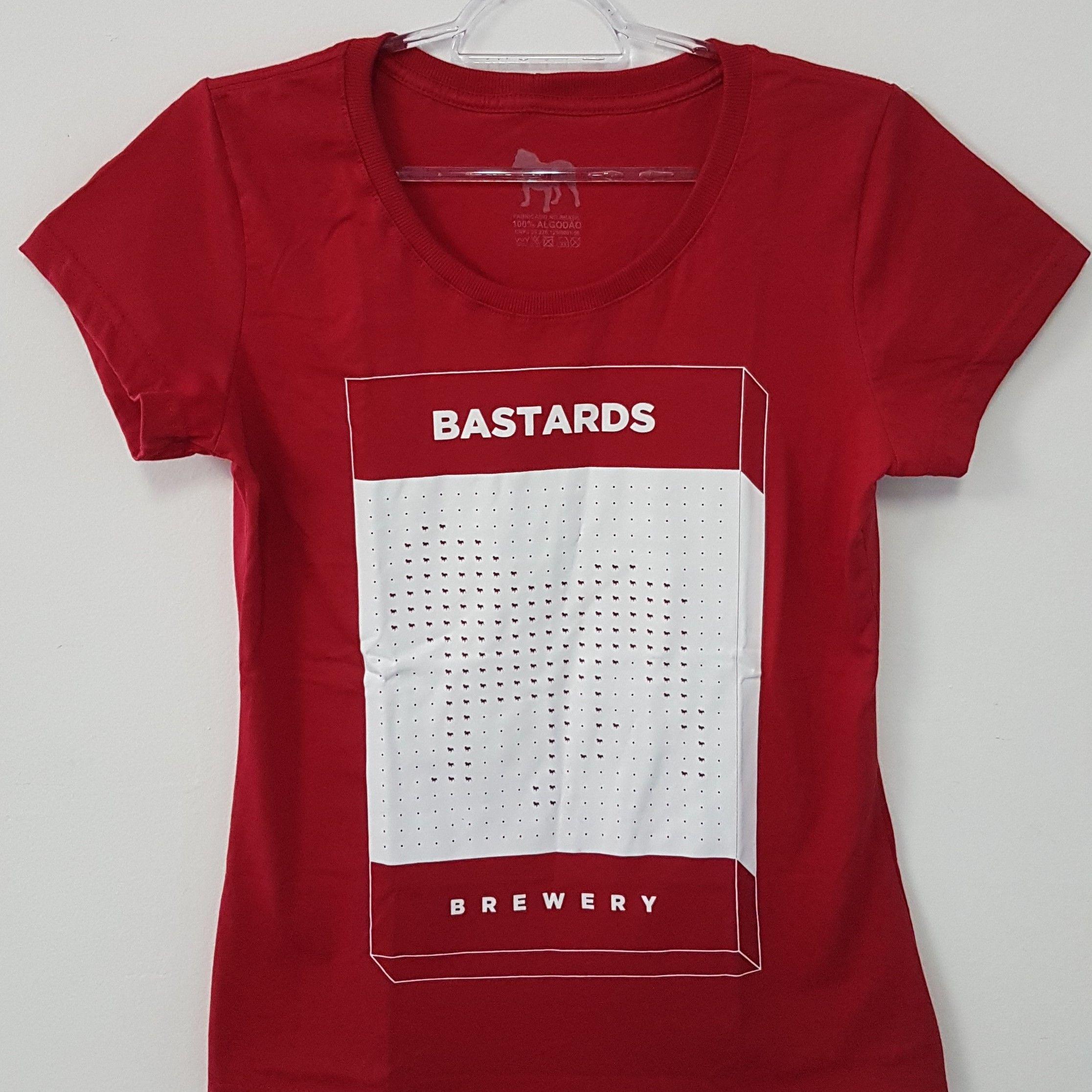 Camiseta Feminina - Box - Vermelha