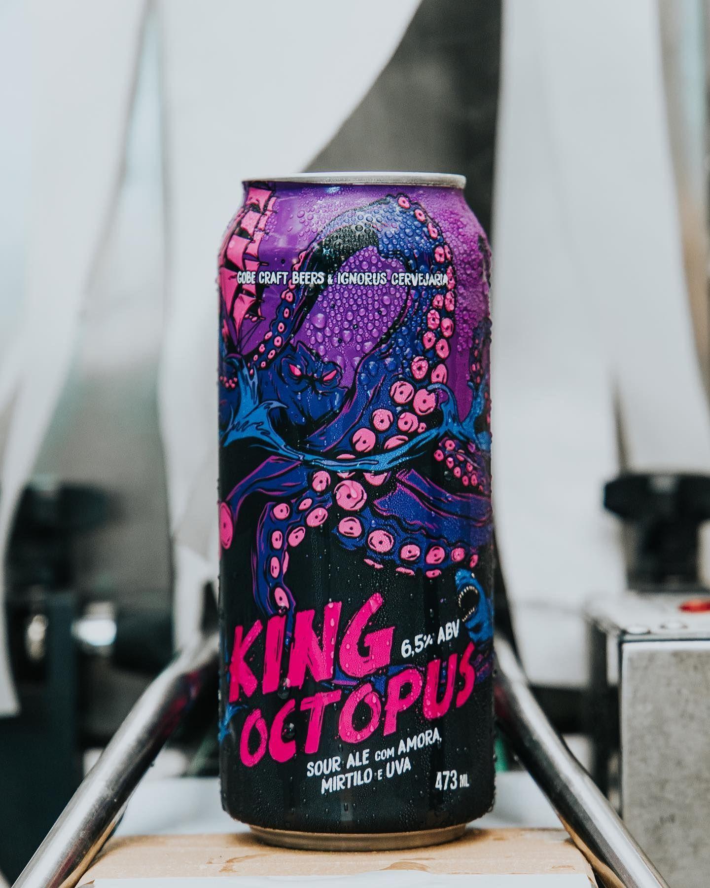 King Octopus - Sour Ale com Amora, Mirtilo e Uva - Gobe & Ignorus