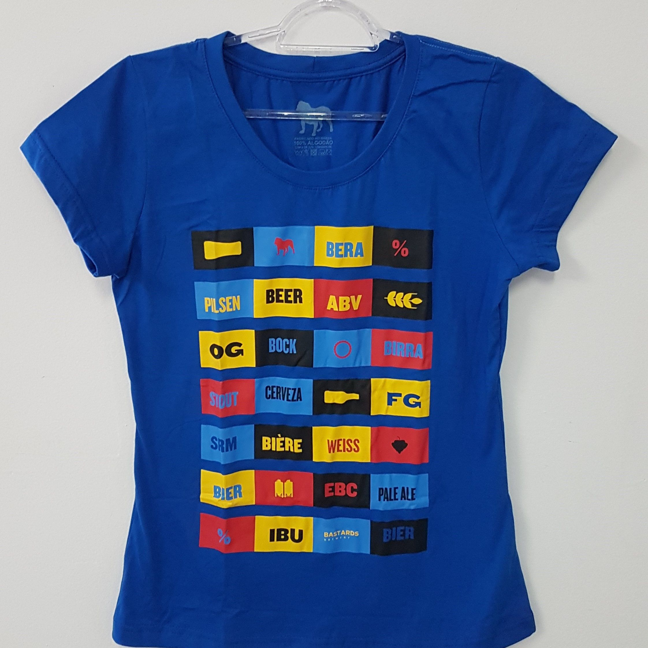 Camiseta Feminina - Elementos Cervejeiros - Azul