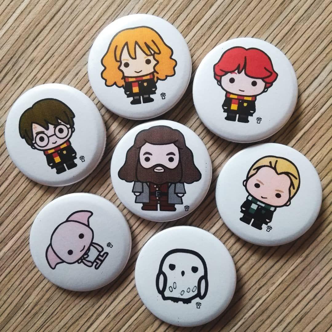 Kit 7 Buttons - Harry Potter