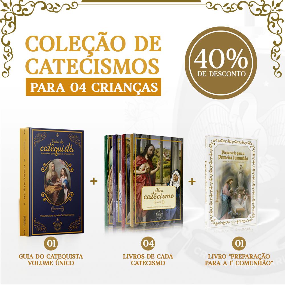 Combo 04 - Coleção de catecismos para 04 crianças