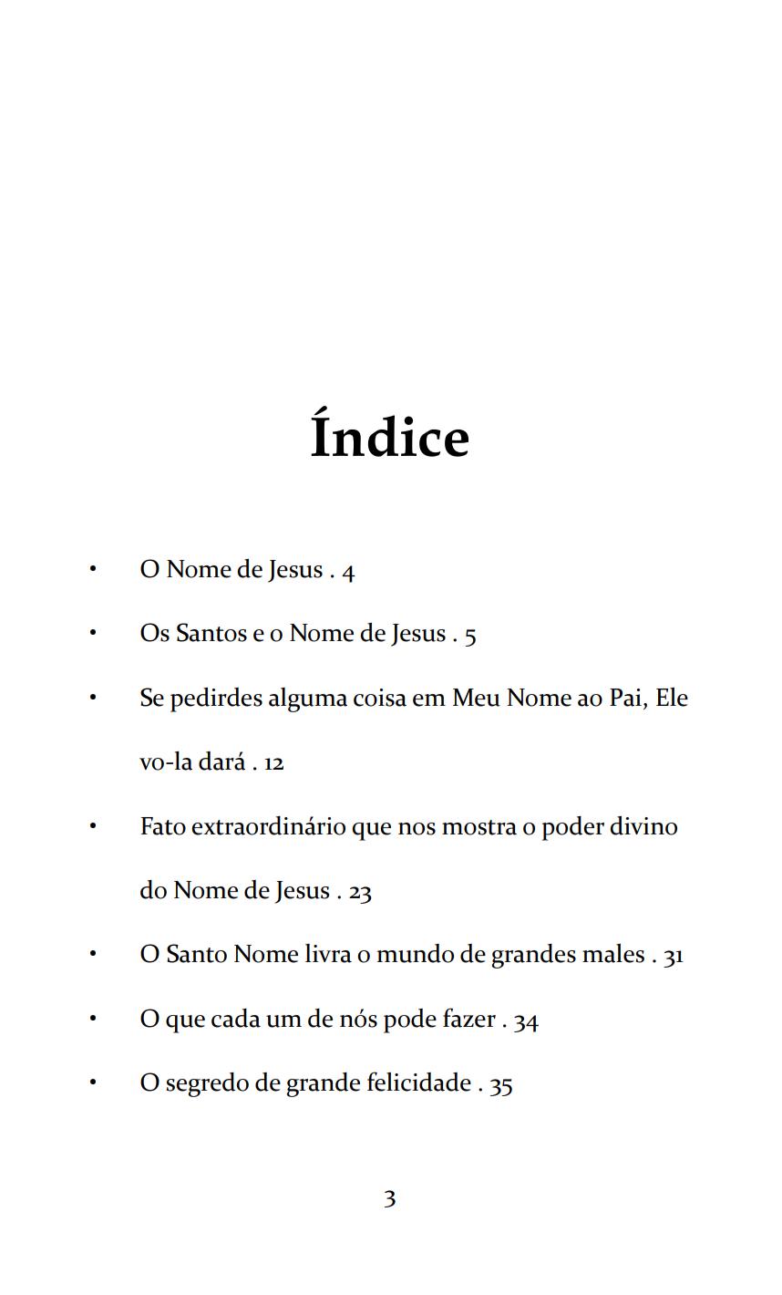 O Santíssimo Nome de Jesus