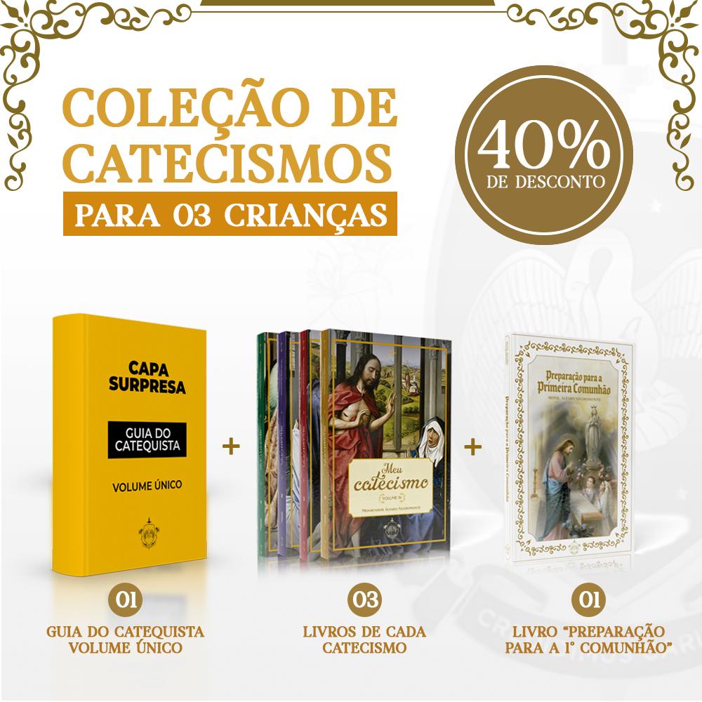 Combo 03 - Coleção de catecismos para 03 crianças