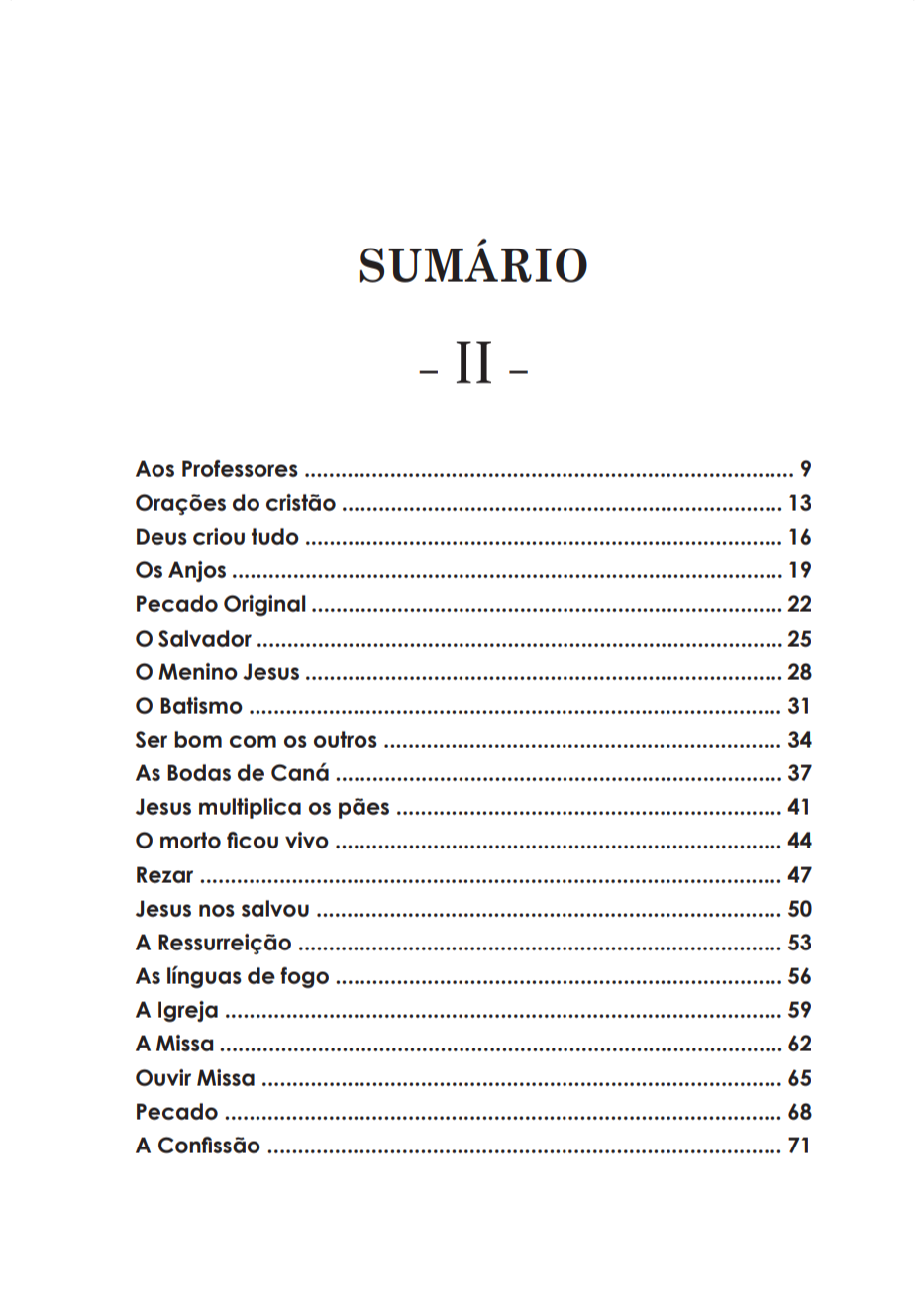 Meu Catecismo volume 02
