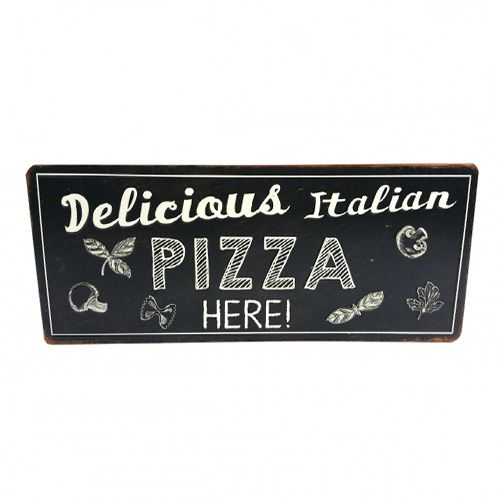 Placa Metal Pizza