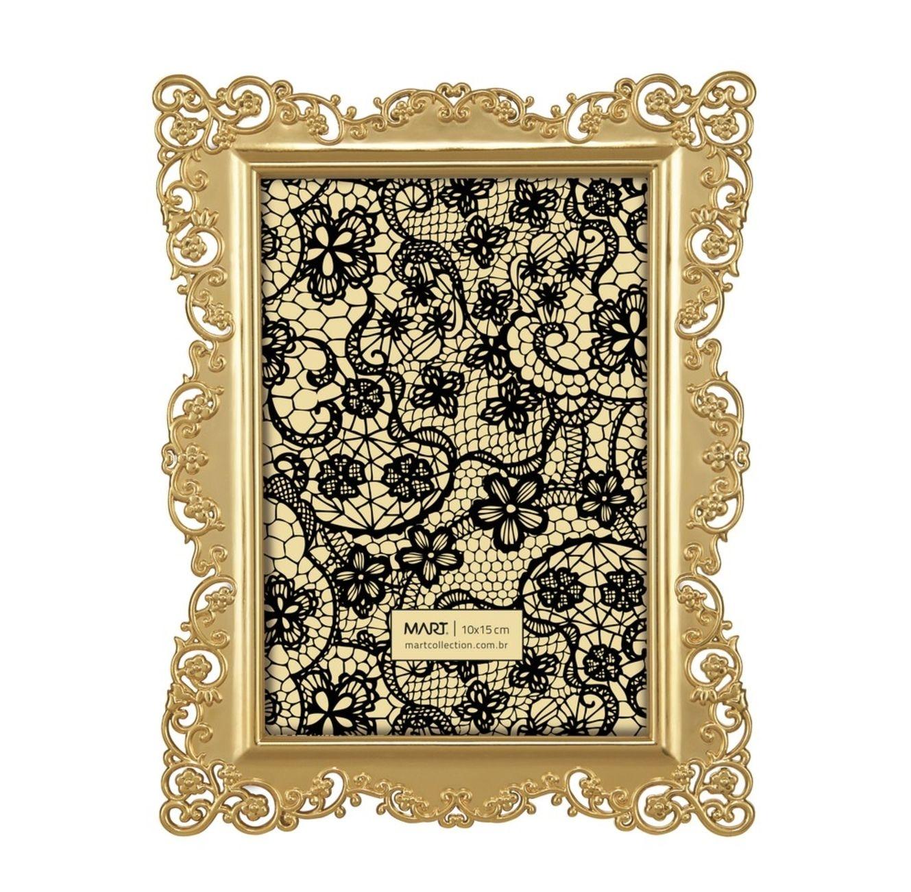 Porta Retrato Arabesco Dourado 10x15