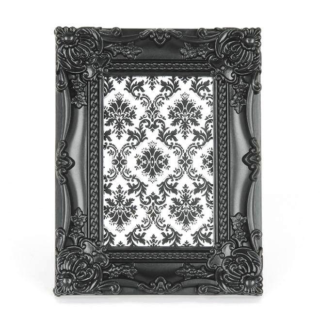 Porta Retrato Retro Preto 10x15 cm