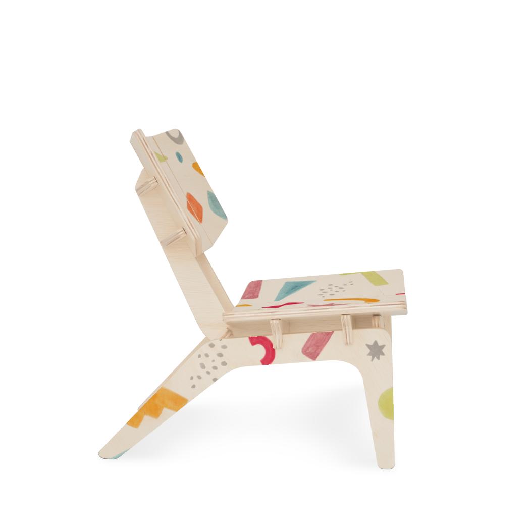 Cadeirinha Infantil Carambelinha Luciana Gnoatto Abstract Play Pastel