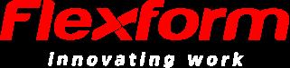 Logo flexform com texto branco