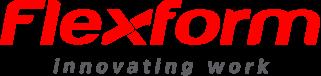 Logo flexform com texto cinza