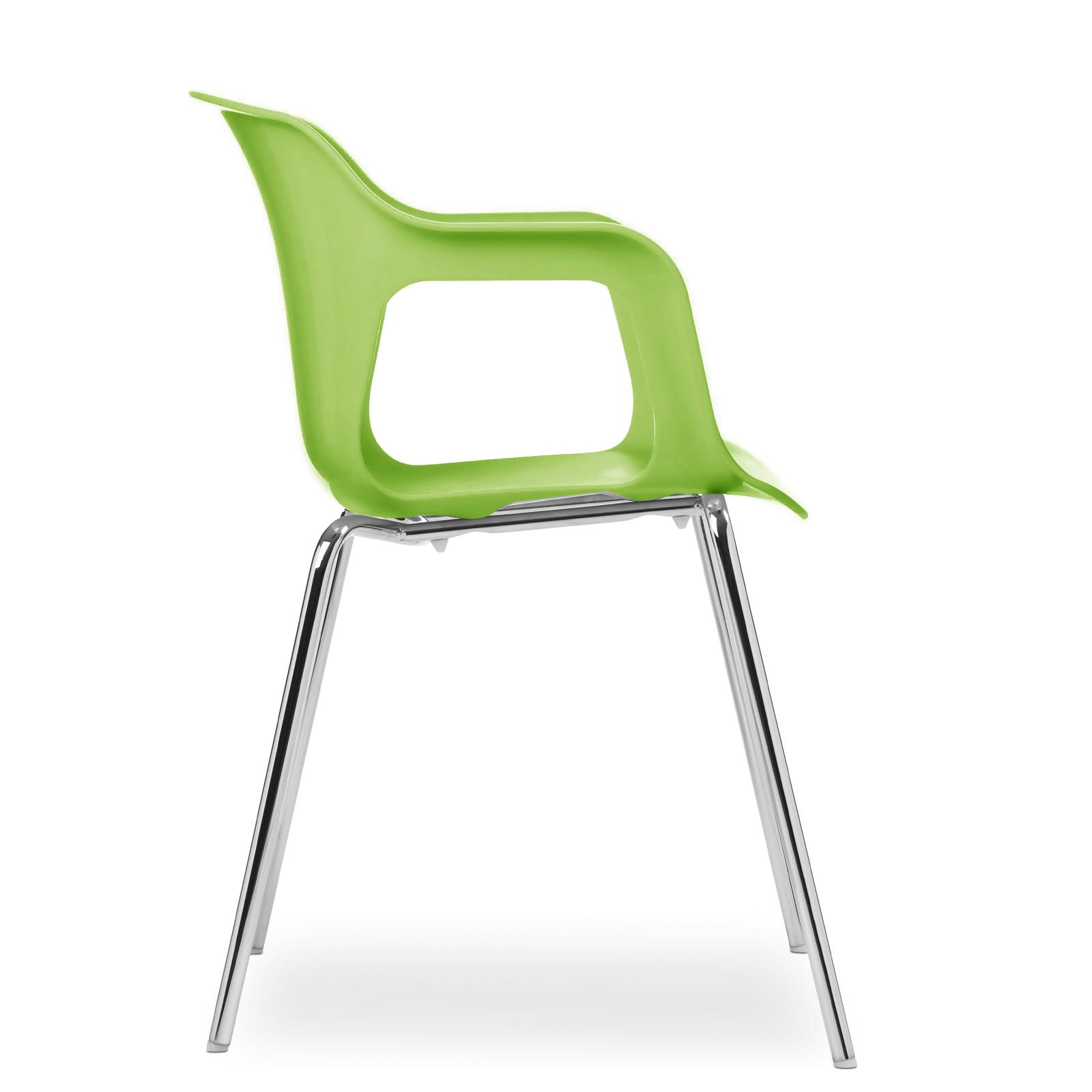 Cadeira Geos Chrome Green
