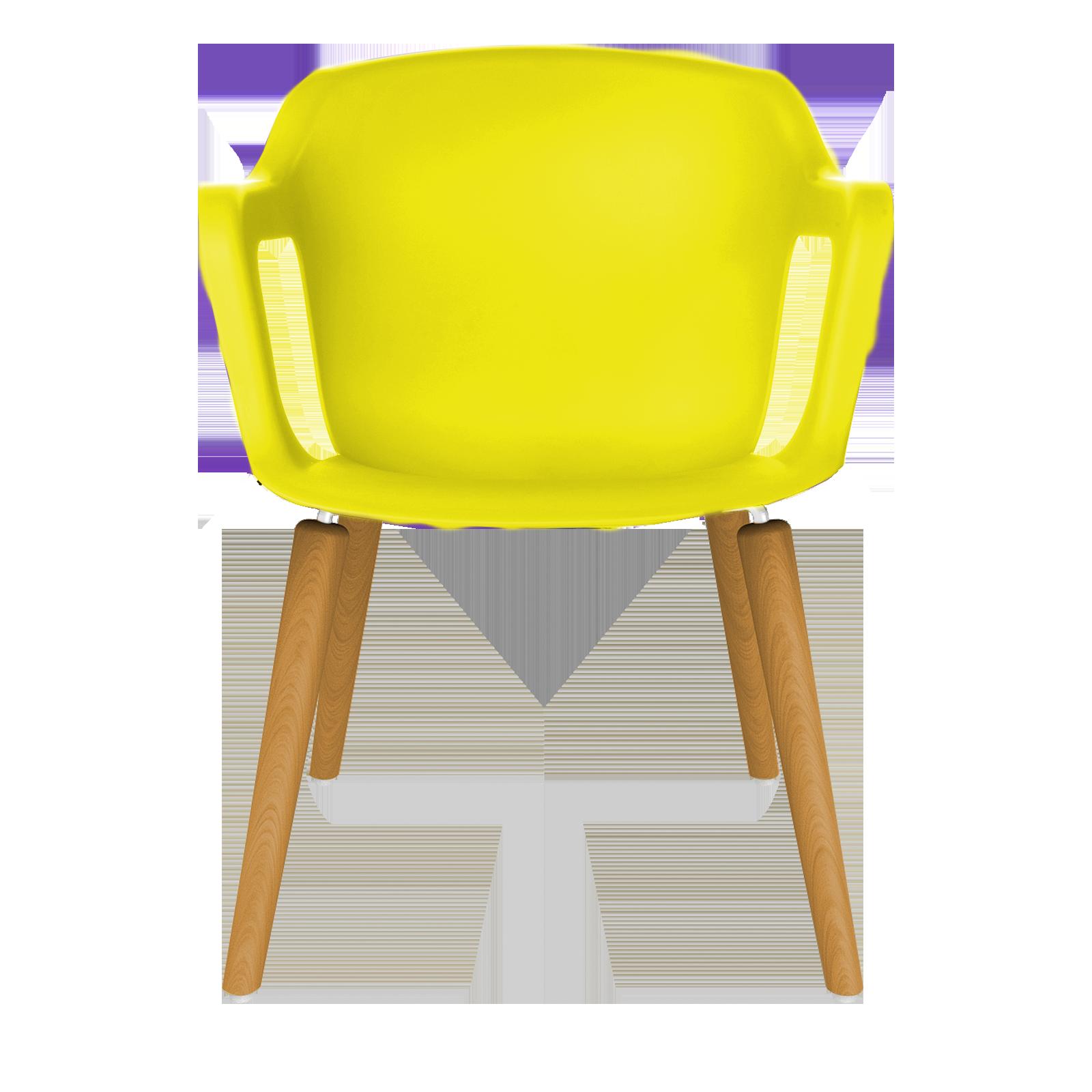 Cadeira Geos Wood Yellow