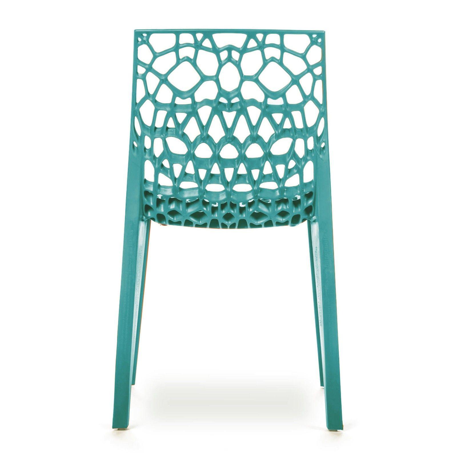 Conjunto com 4 Cadeiras Coral Blue