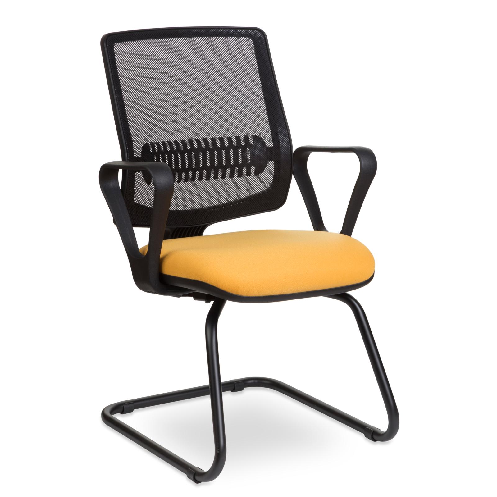 Cadeira Fixa Uni Black n Yellow