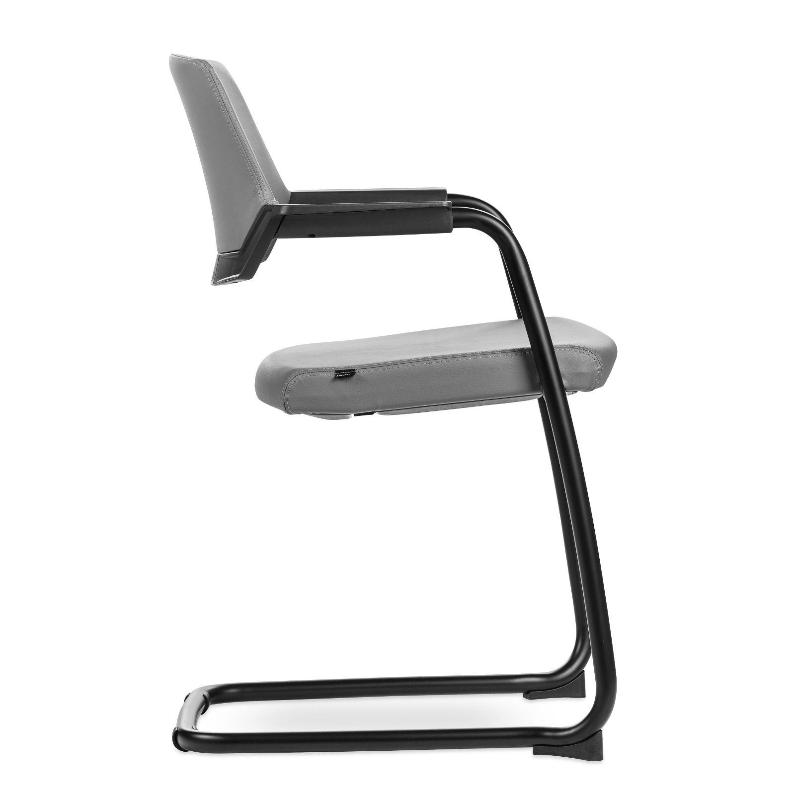 cadeira matrix grey leather