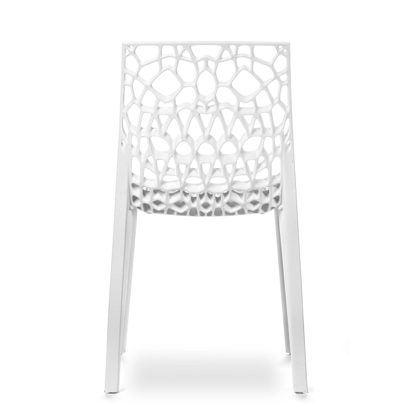 Conjunto com 4 Cadeiras Coral White