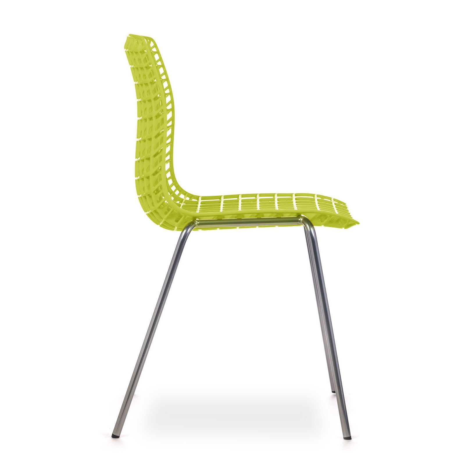 cadeira moiré chrome yellow