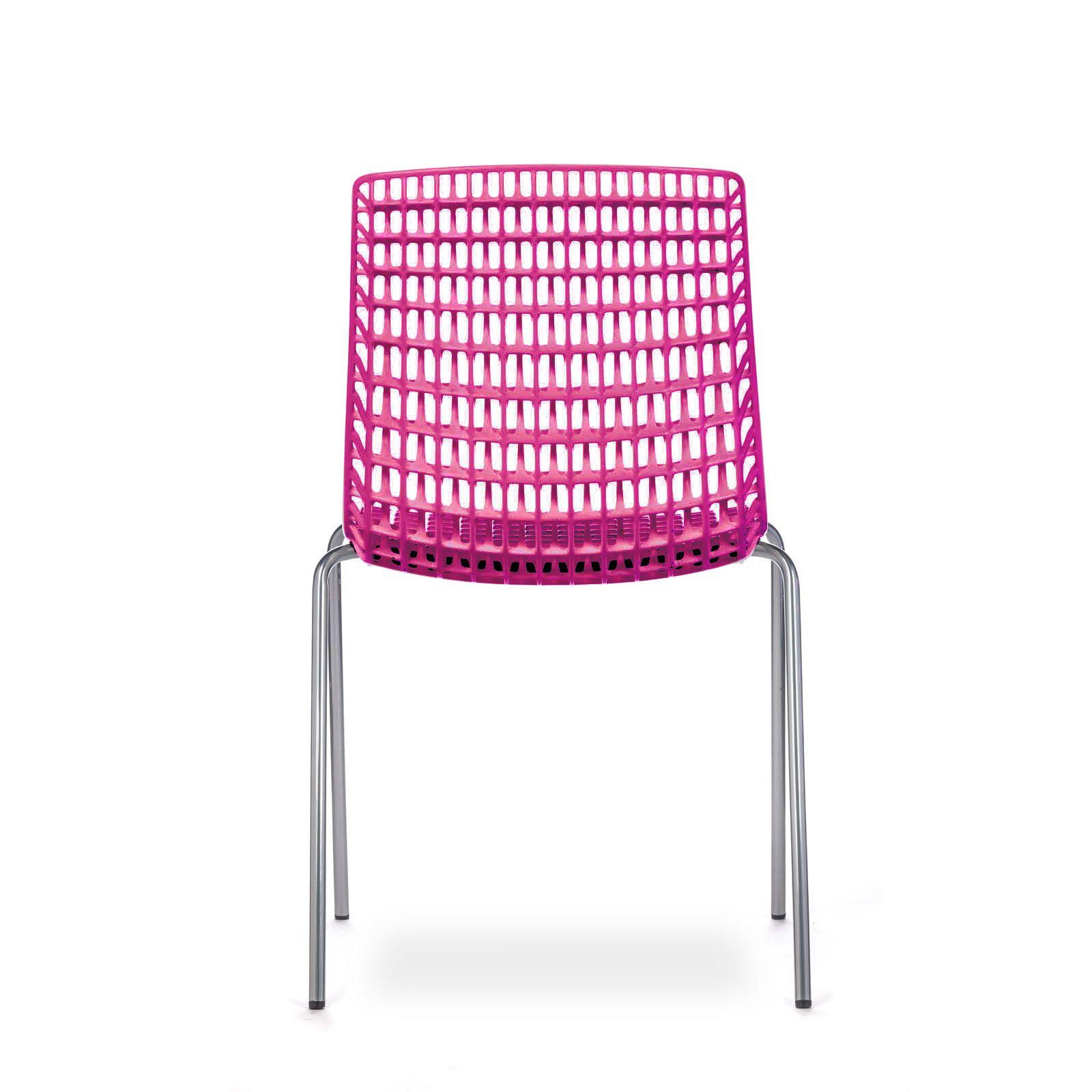 cadeira moiré chrome rose