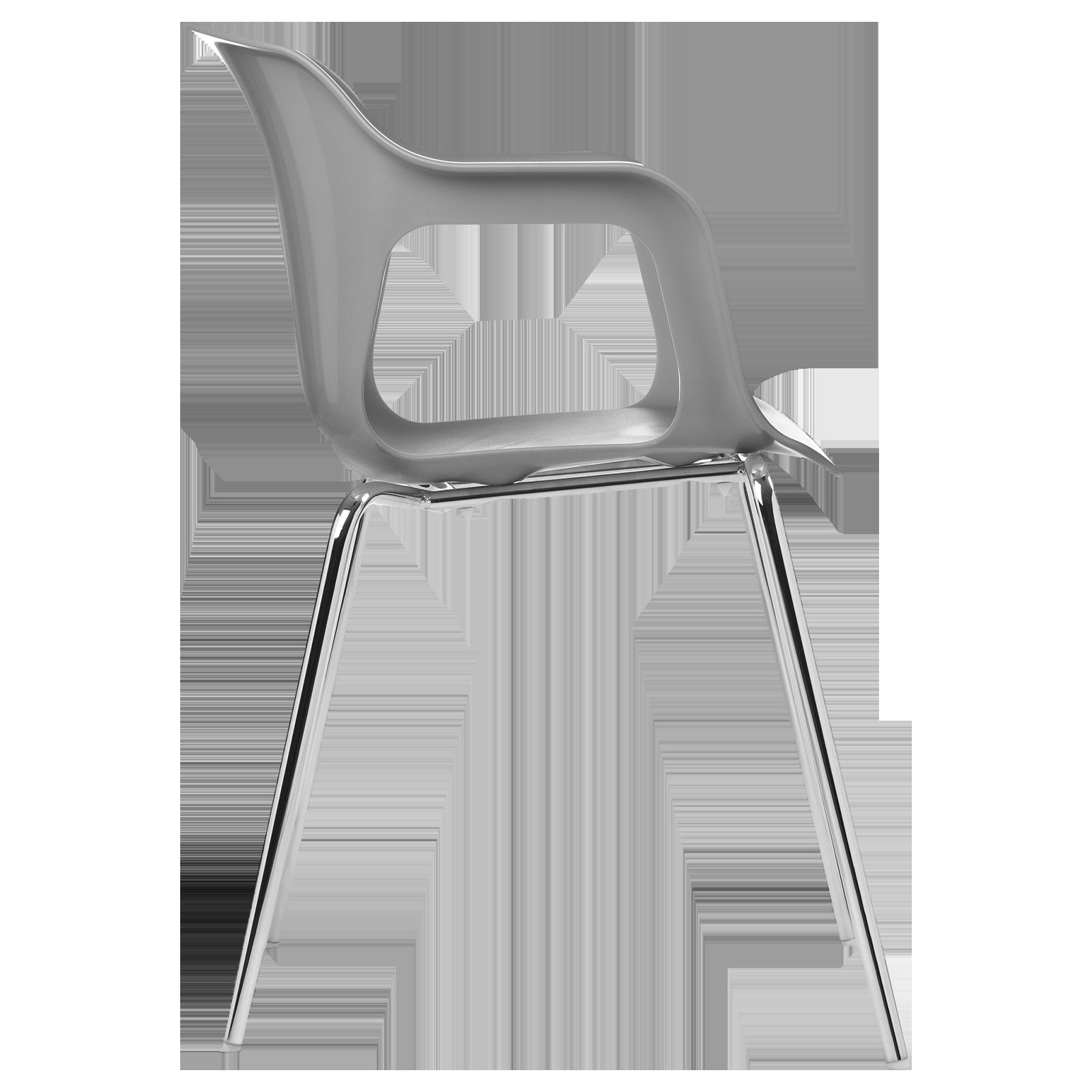 cadeira geos chrome grey