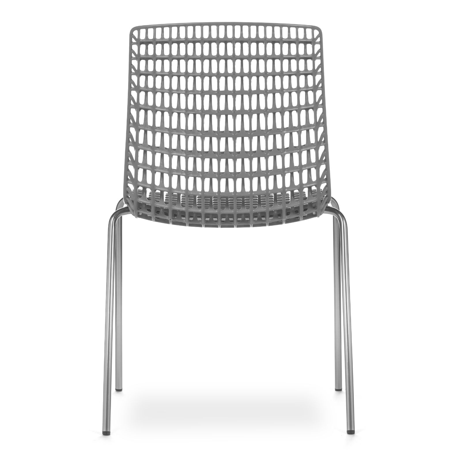 Cadeira Moiré Chrome Grey