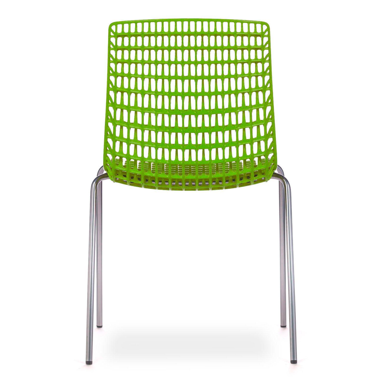 Cadeira Moiré Chrome Green