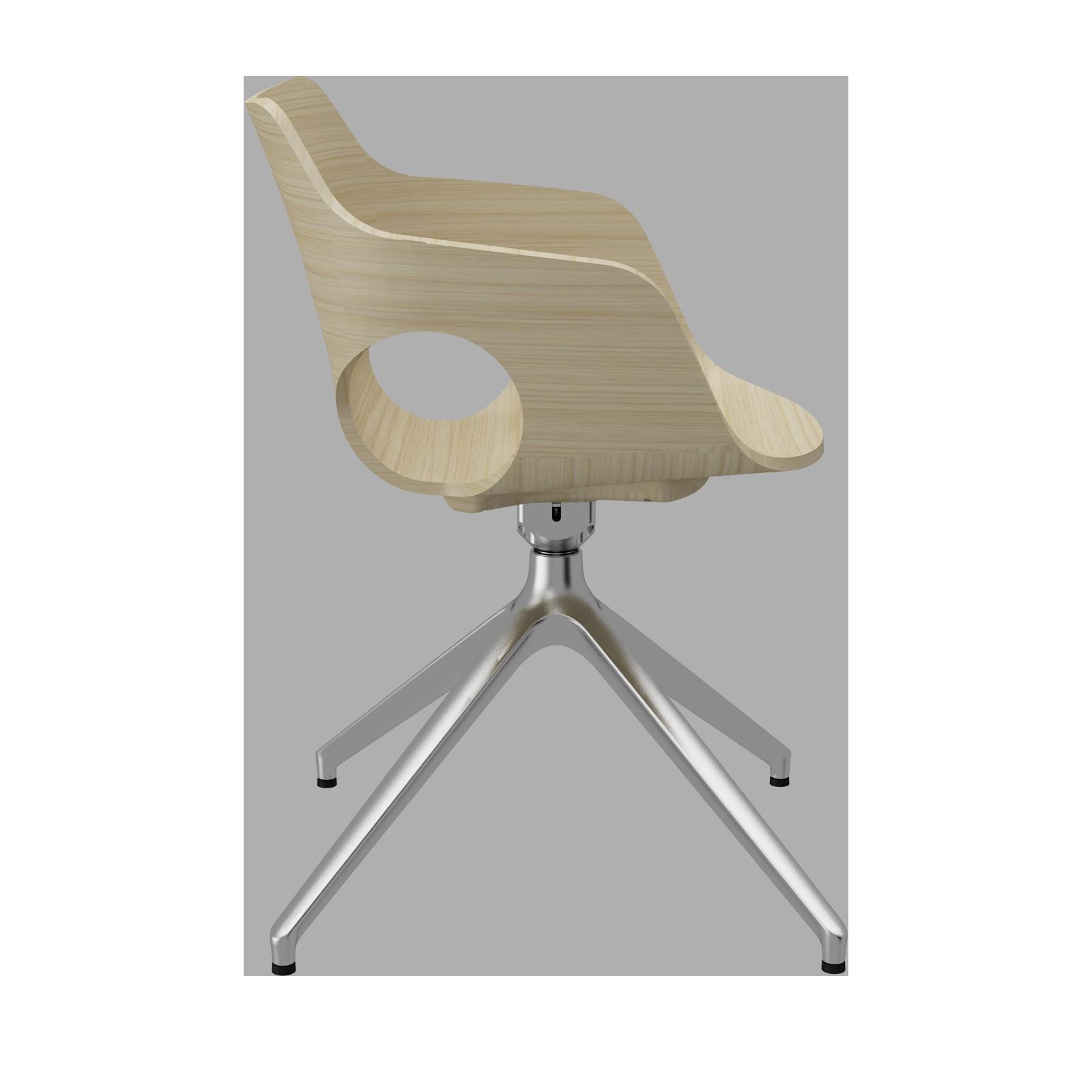 Cadeira Olé Wood White Aok Piramidal