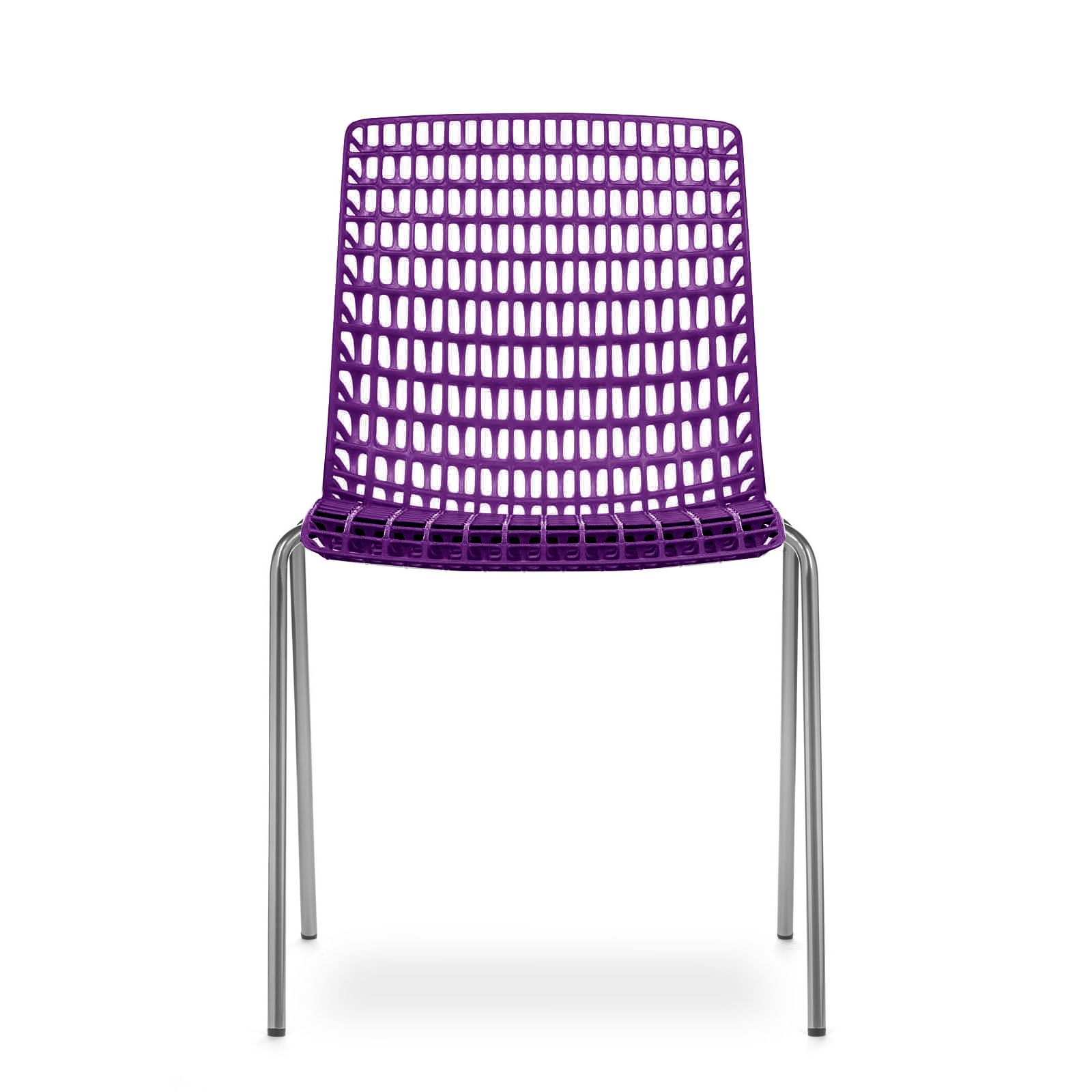 Cadeira Moiré Chrome Purple