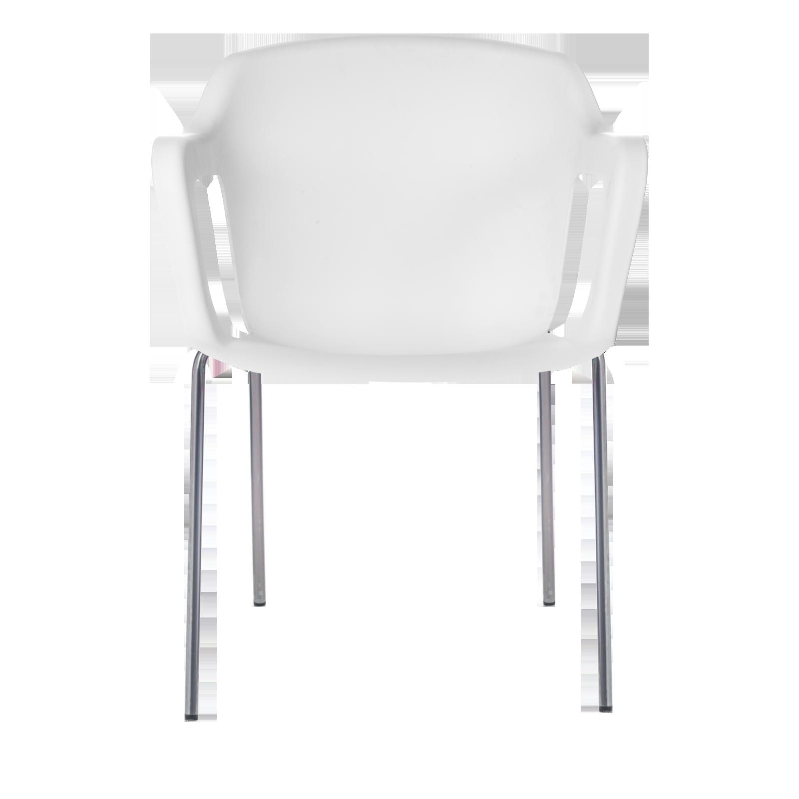 Cadeira Geos Chrome White