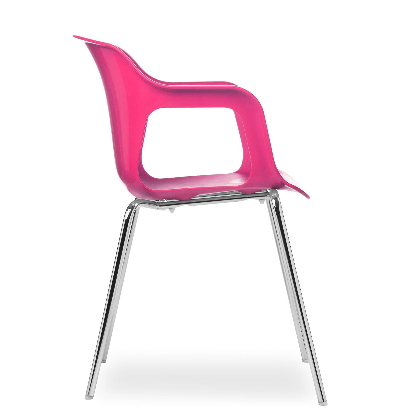 Cadeira Geos Chrome Rose