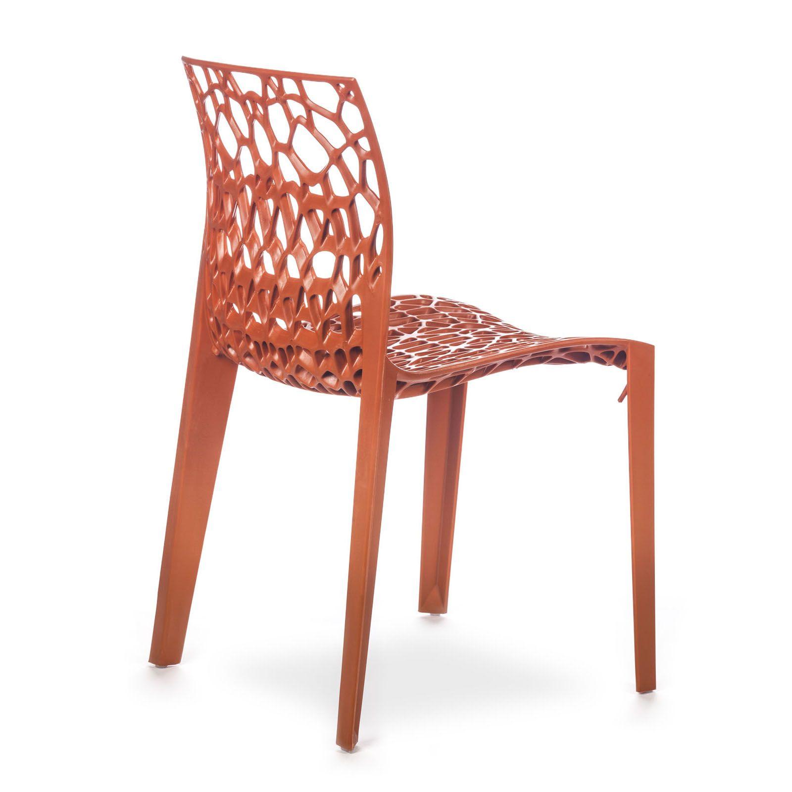 Conjunto com 4 Cadeiras Coral Orange