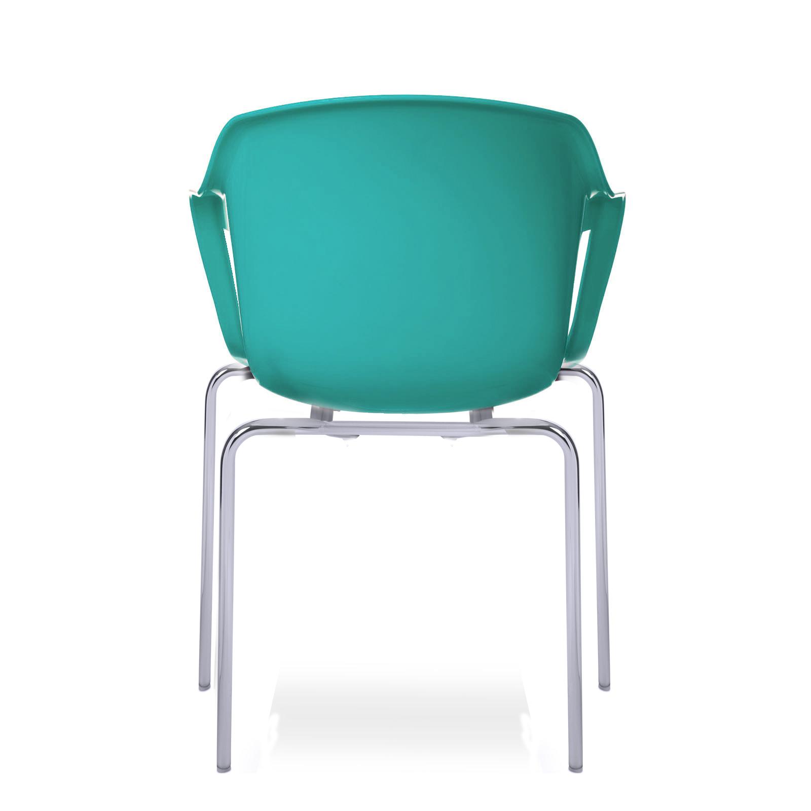 cadeira geos chrome blue