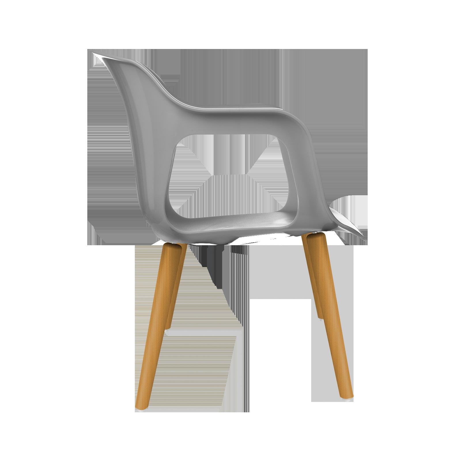 Cadeira Geos Wood Grey