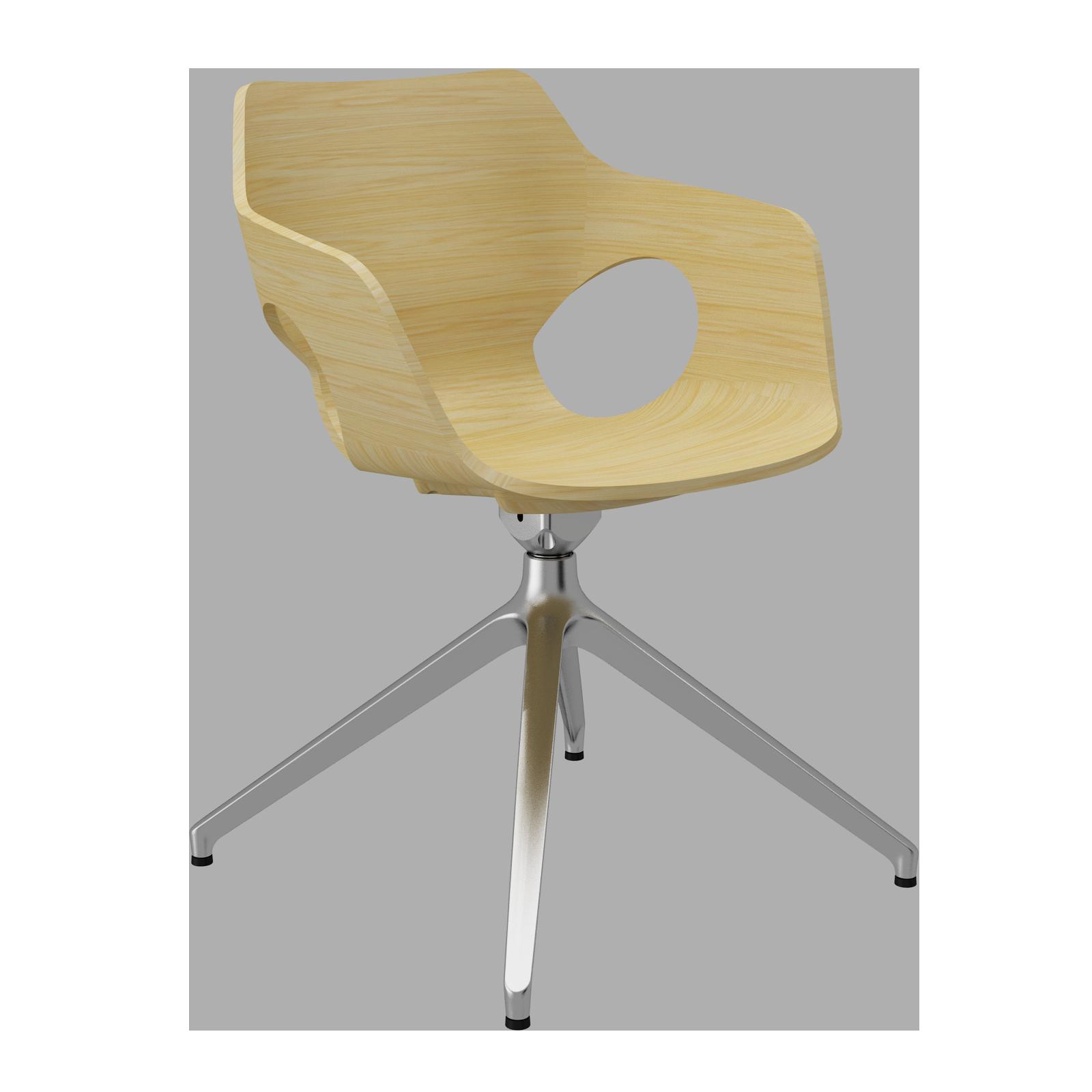 Cadeira Olé Wood Natural Oak Piramidal