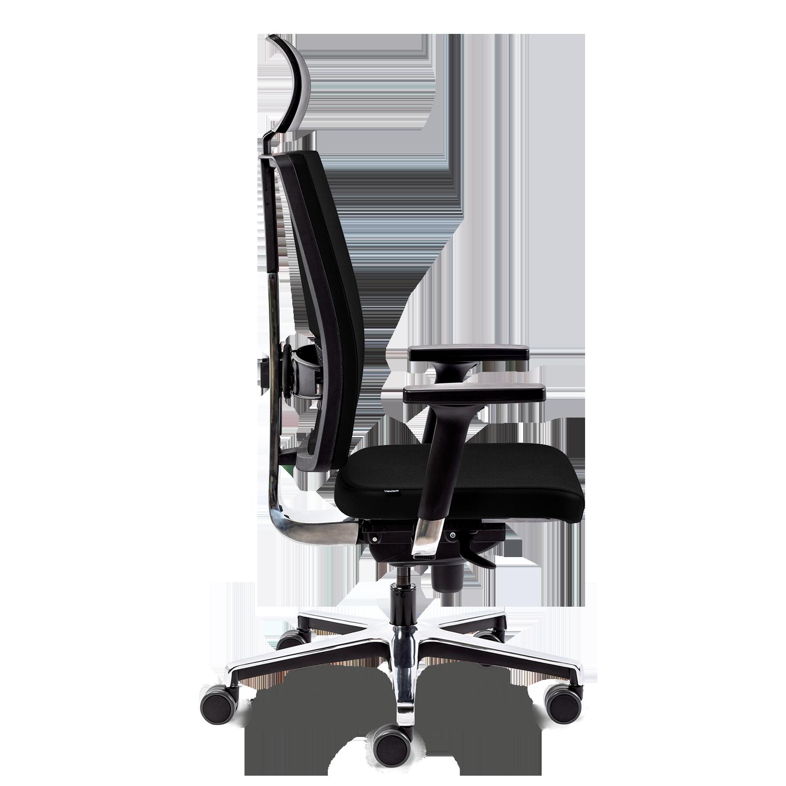 Cadeira Led All Black Aluminium
