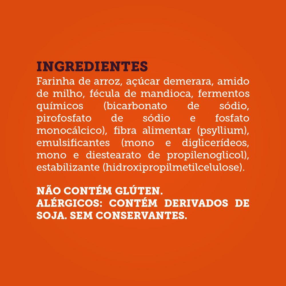 Mistura para Bolo de Laranja Sem Glúten, Vegano, Sem Ovos, Sem Lactose, Sem Leite - Grani Amici 390g