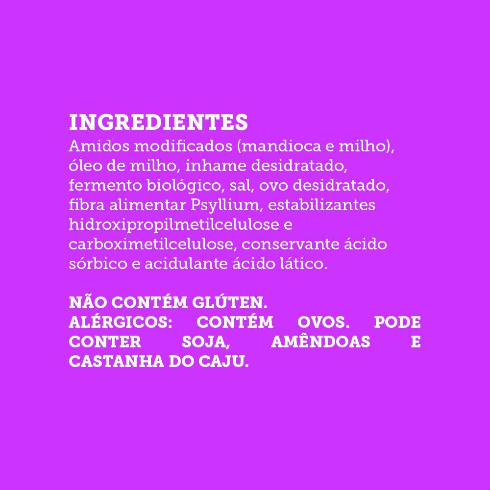Pão de Forma Inhame Sem Glúten, Sem Açúcar, Sem Lactose, Sem Leite - Grani Amici 450g