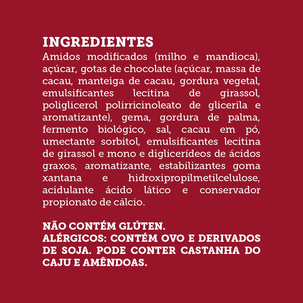 Granittone / Chocottone Gotas de Chocolate Sem Glúten, Sem Lactose, Sem Leite - Grani Amici 300g