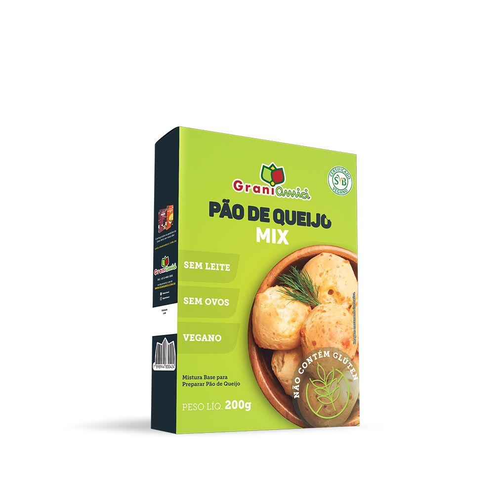 Mistura para Pão de Queijo Sem Glúten, Vegano, Sem Ovos, Sem Lactose, Sem Leite - Grani Amici 200g