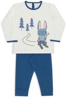 Pijama De Algodão E Modal Coelho Na Neve Marfim Dedeka