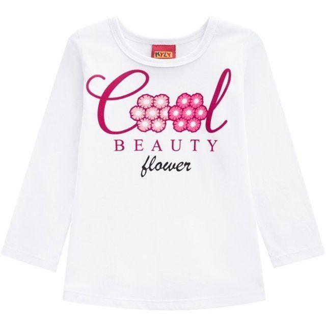 Conjunto De Algodão Blusa Manga Longa E Calça Beauty Flower Branco Kyly