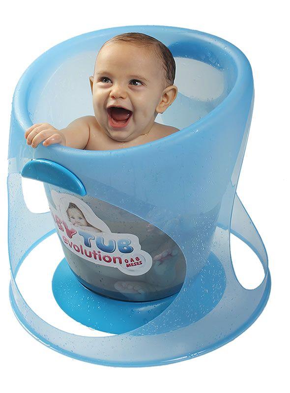 Banheira Evolution Azul 0 A 8 Meses Babytub
