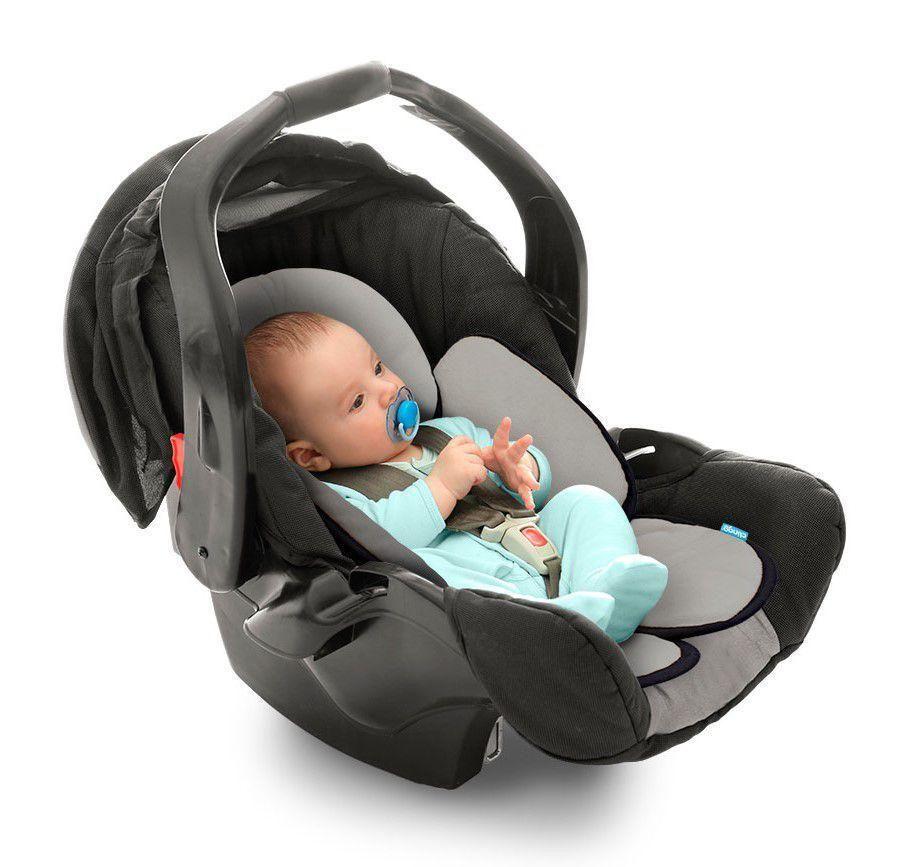 Almofada Para Bebê Conforto Cadeirinha E Carrinho Cinza E Preto Clingo