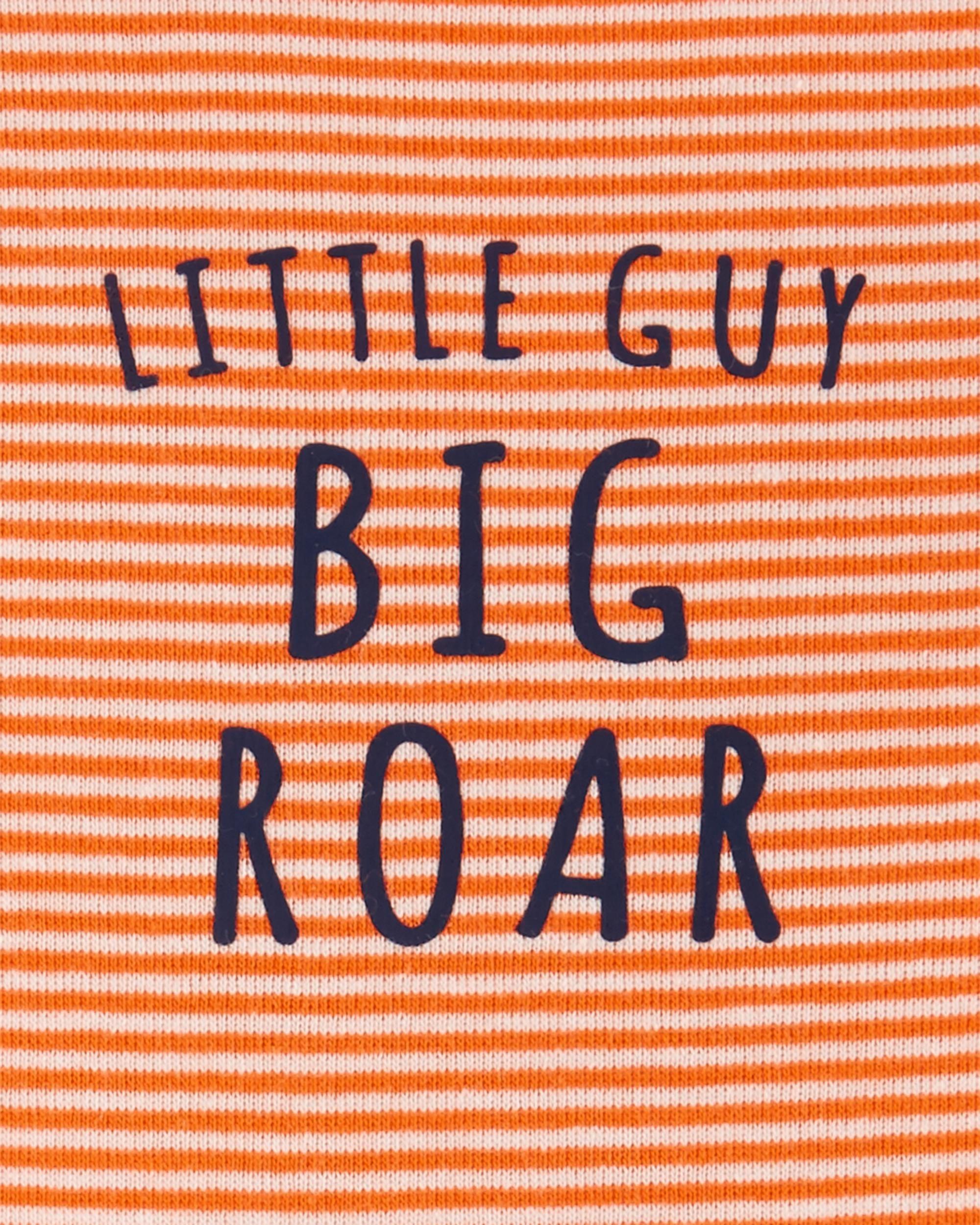 Conjunto 3 Peças De Algodão Leão Little Guy Big Roar Carter's