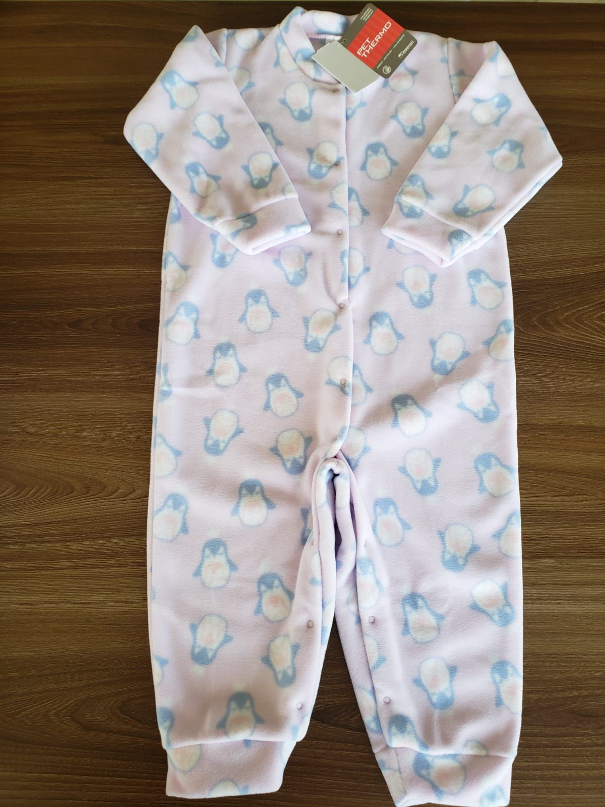 Macacão Infantil De Microsoft Mamães Pinguins Rosa Dedeka