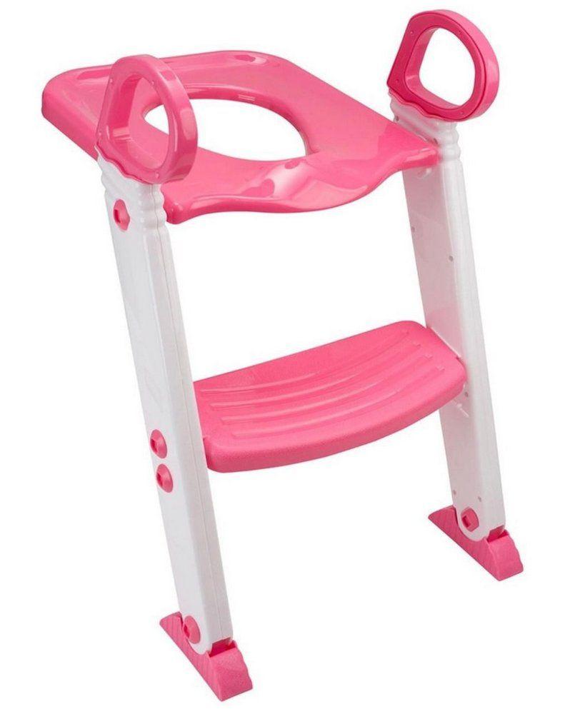 Redutor De Assento Com Escada Articulável Rosa KaBaby
