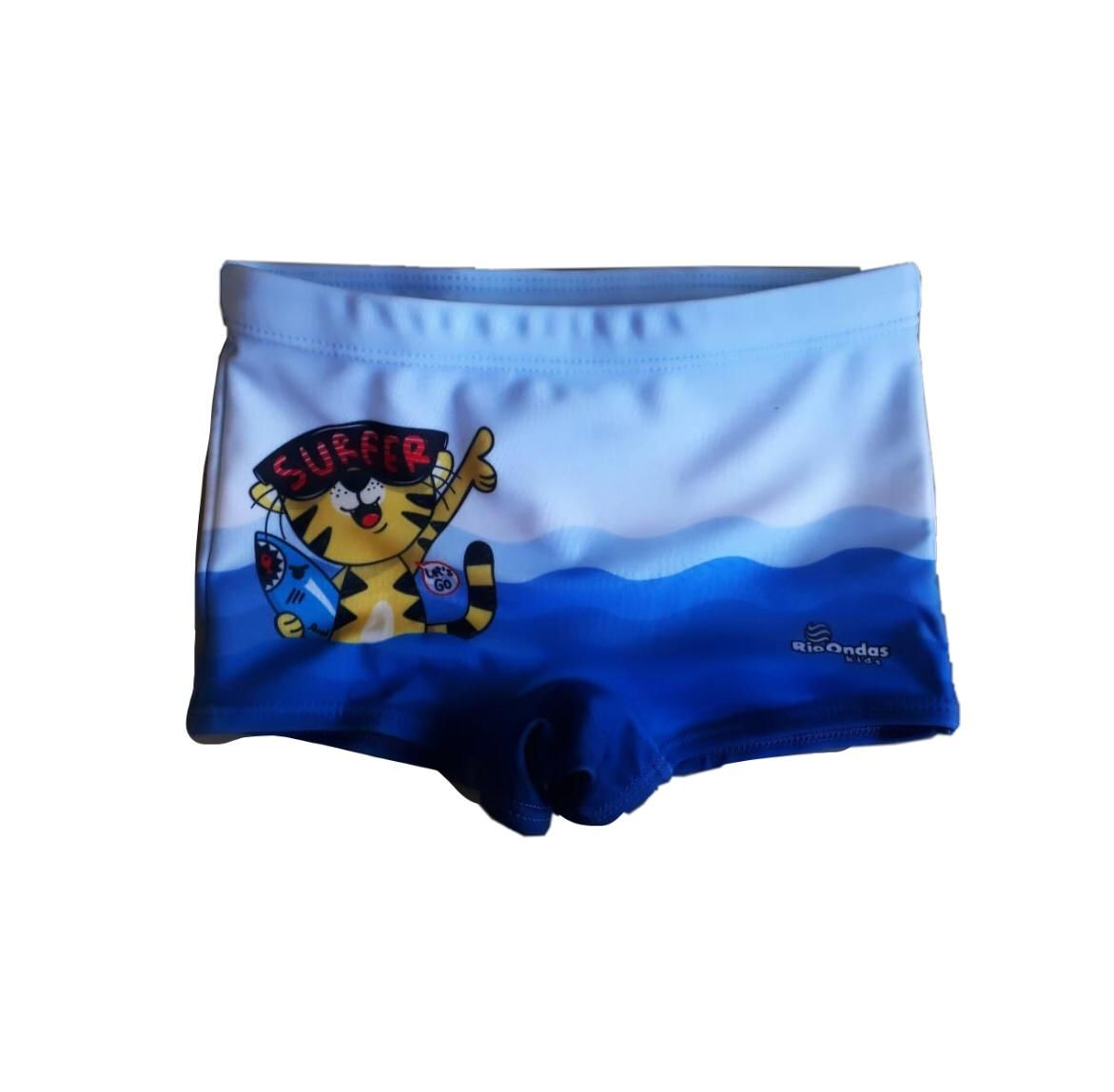 Sunga Box Tigre Surfer Azul Rio Ondas
