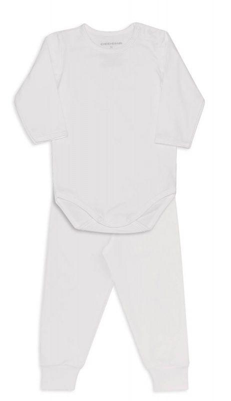 Conjunto De Body Bebê Térmico Marfim Dedeka